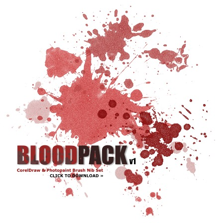 Bloodpack v1 Corel Brush Pack