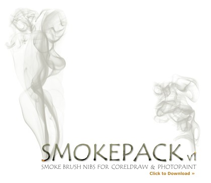 Smokepack v1 Corel Brush Pack