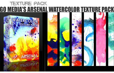 Go Media's Arsenal Watercolor Texture Pack